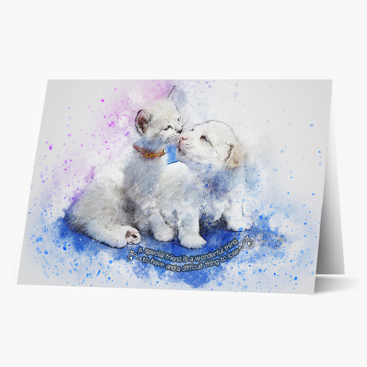 A Special Friend Dog and Cat Pet Sympathy Card