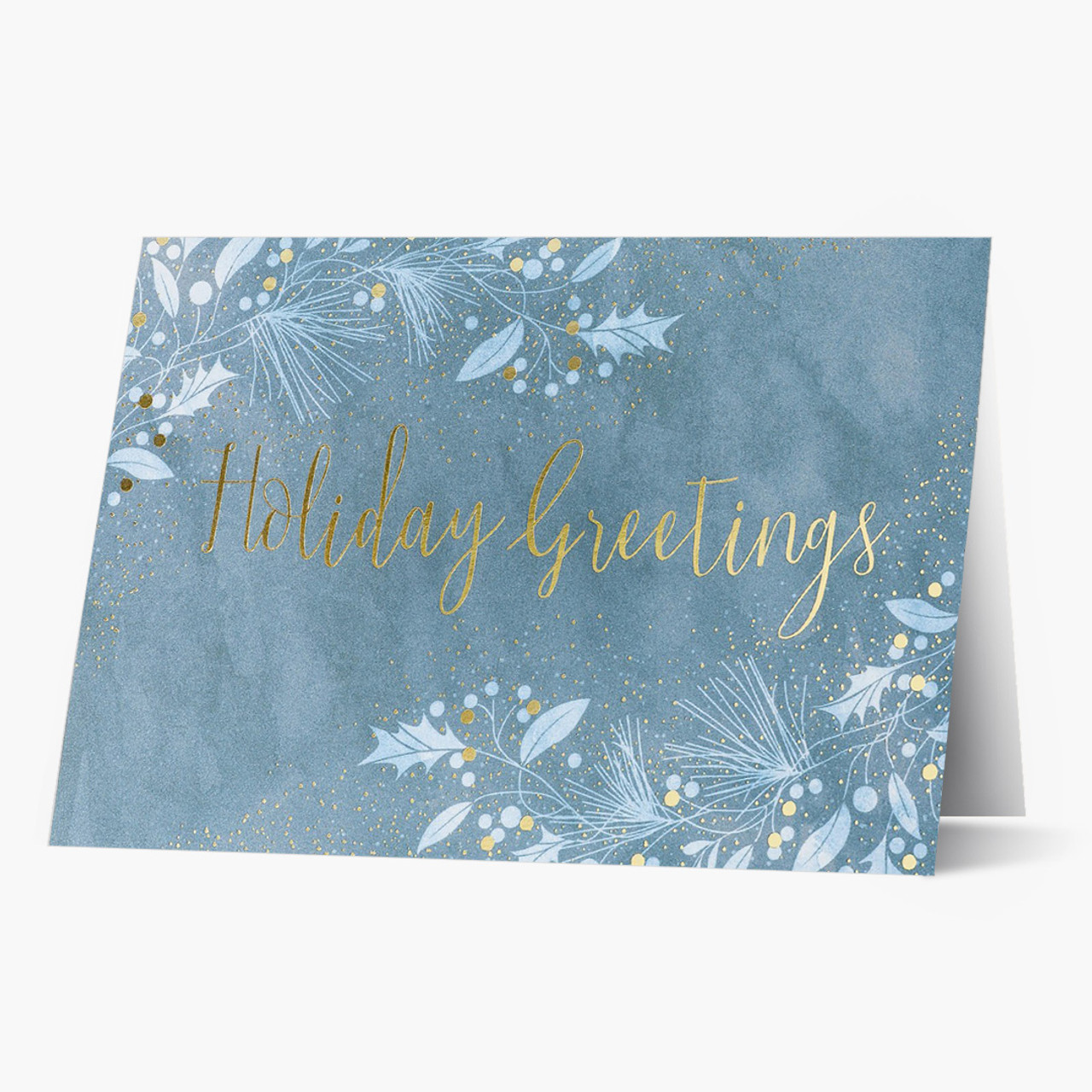 Watercolor Greetings Christmas Card