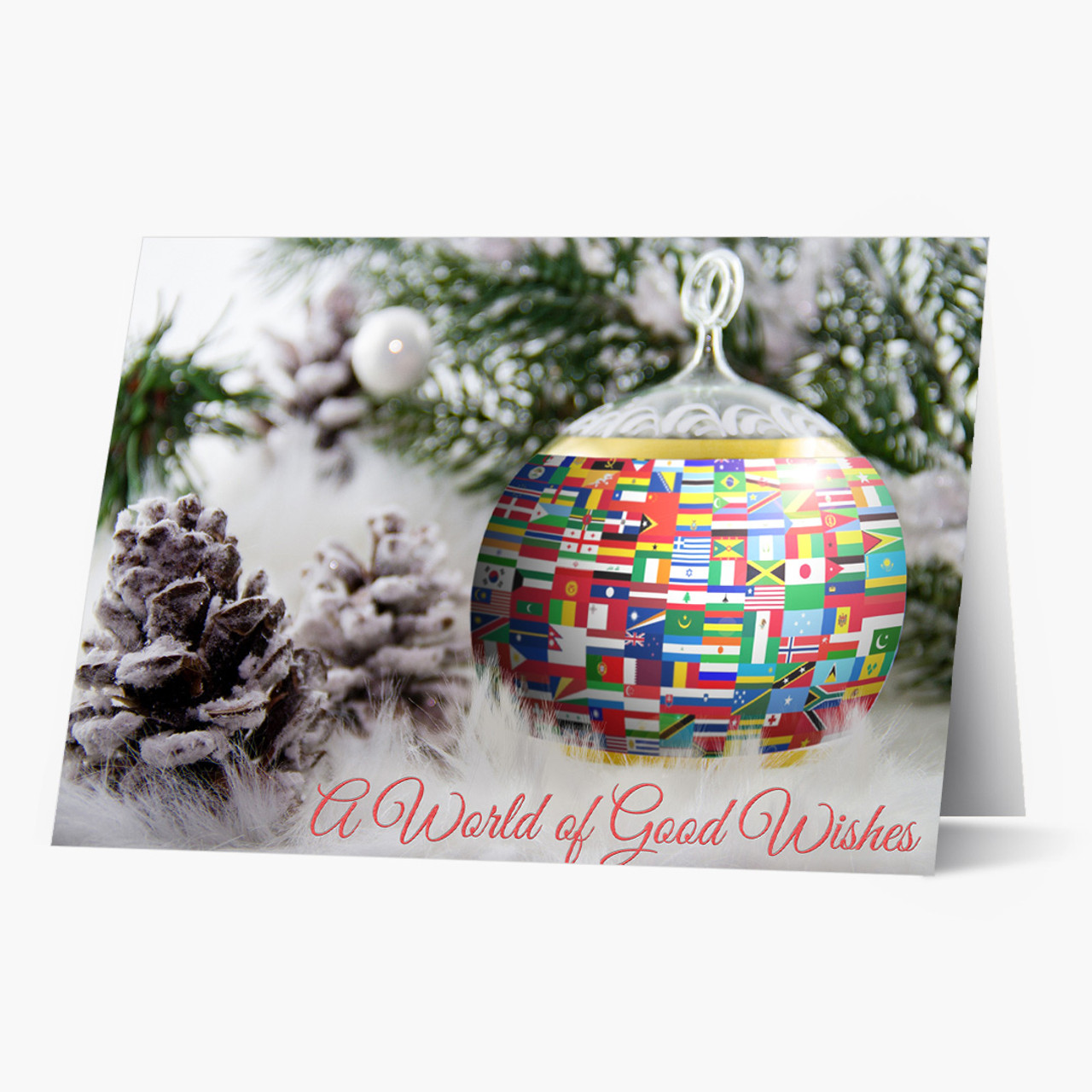 A World of Good Wishes Christmas Card