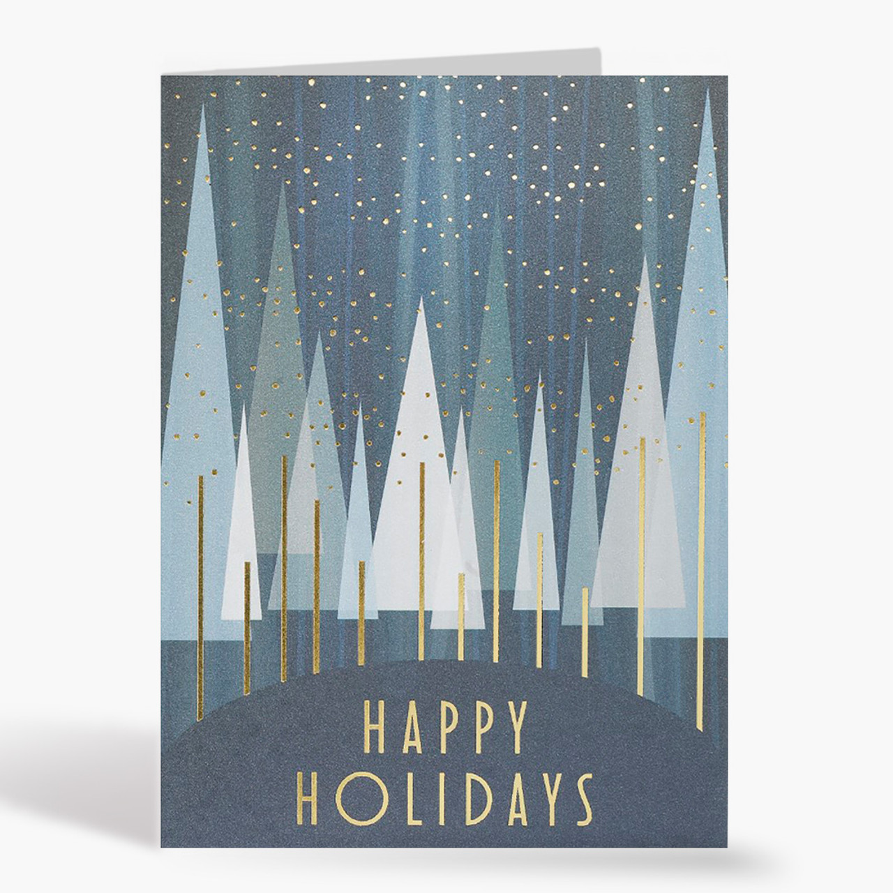 Happy Holidays Treeline Christmas Card