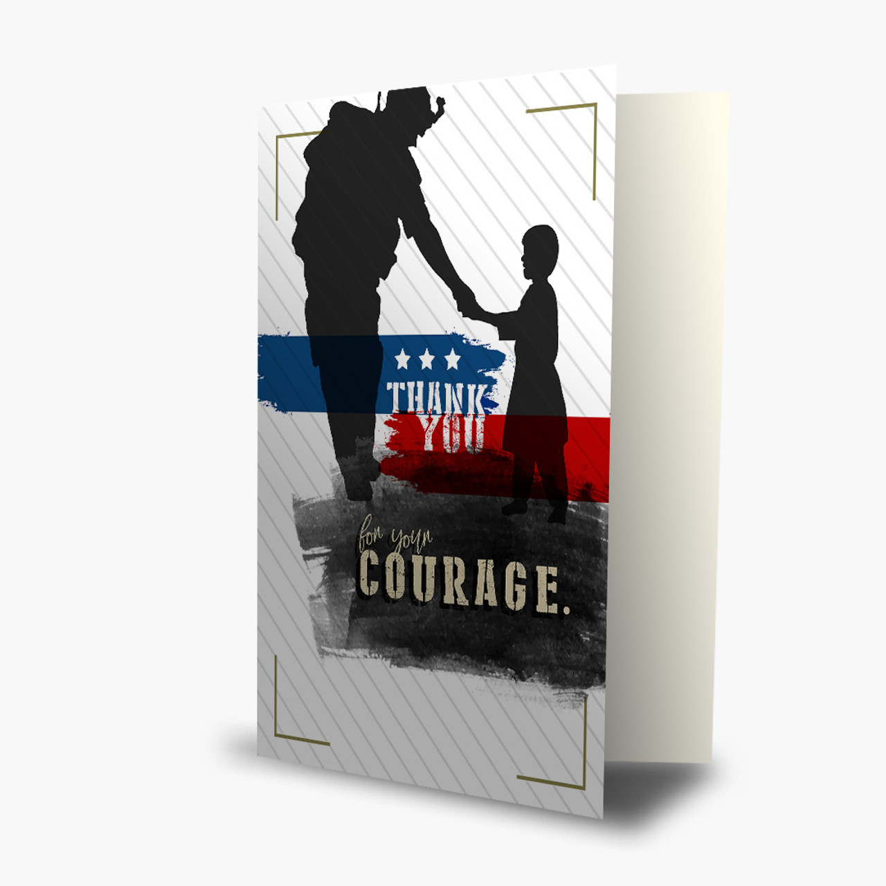 Army Soldier Child Christmas Card