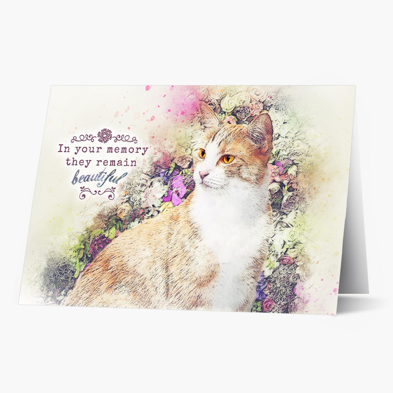 Beautiful Memory Cat Pet Sympathy Card