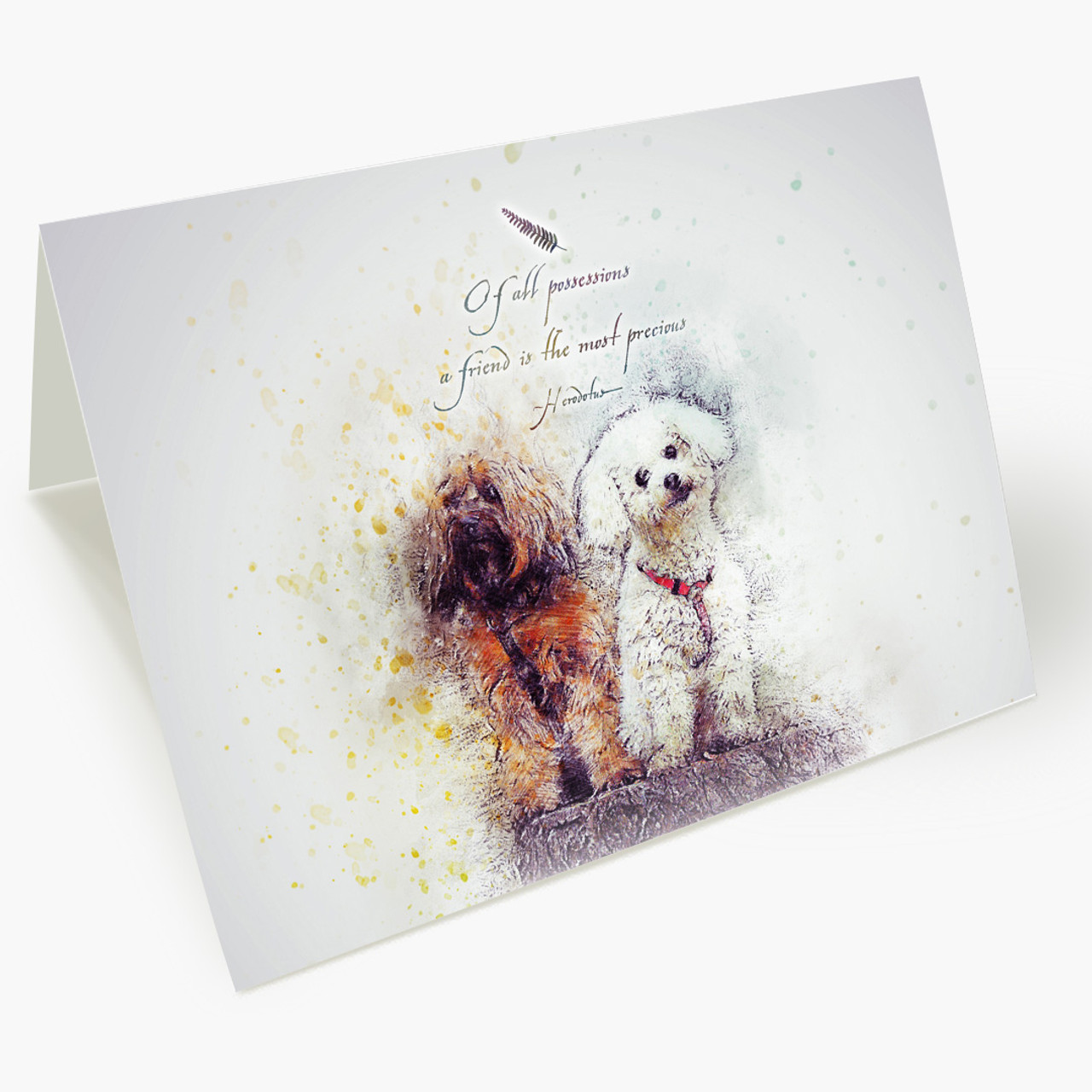 Best Friend Bichon Frise Maltese Yorkie Pet Sympathy Card