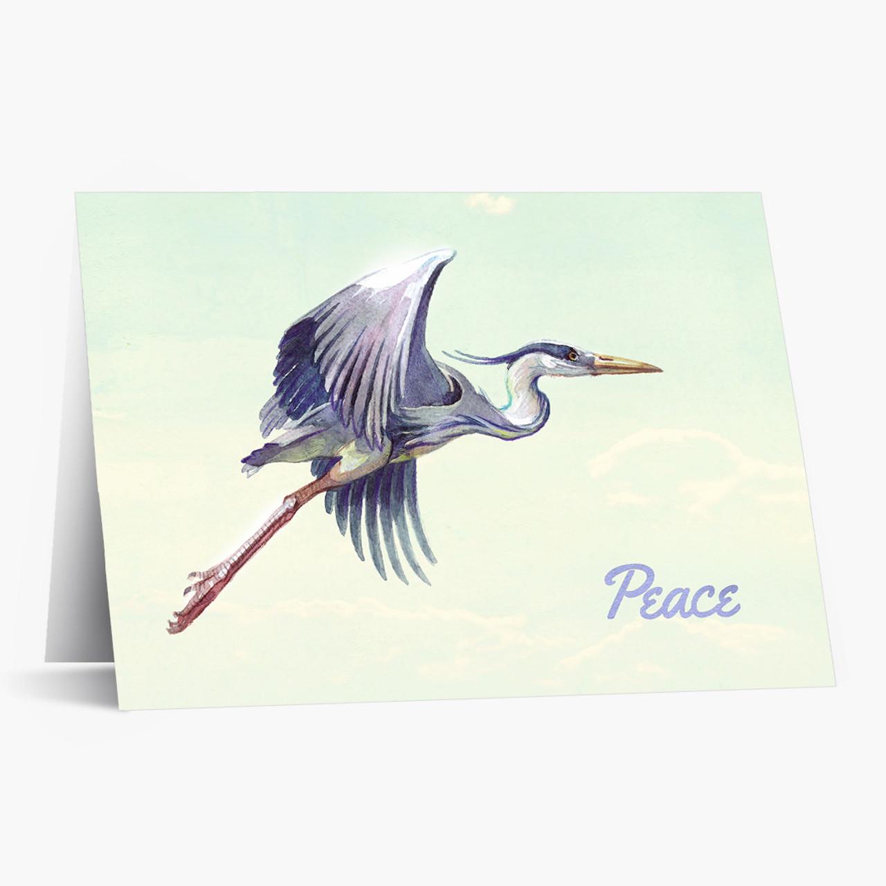 Blue Heron Christmas Card