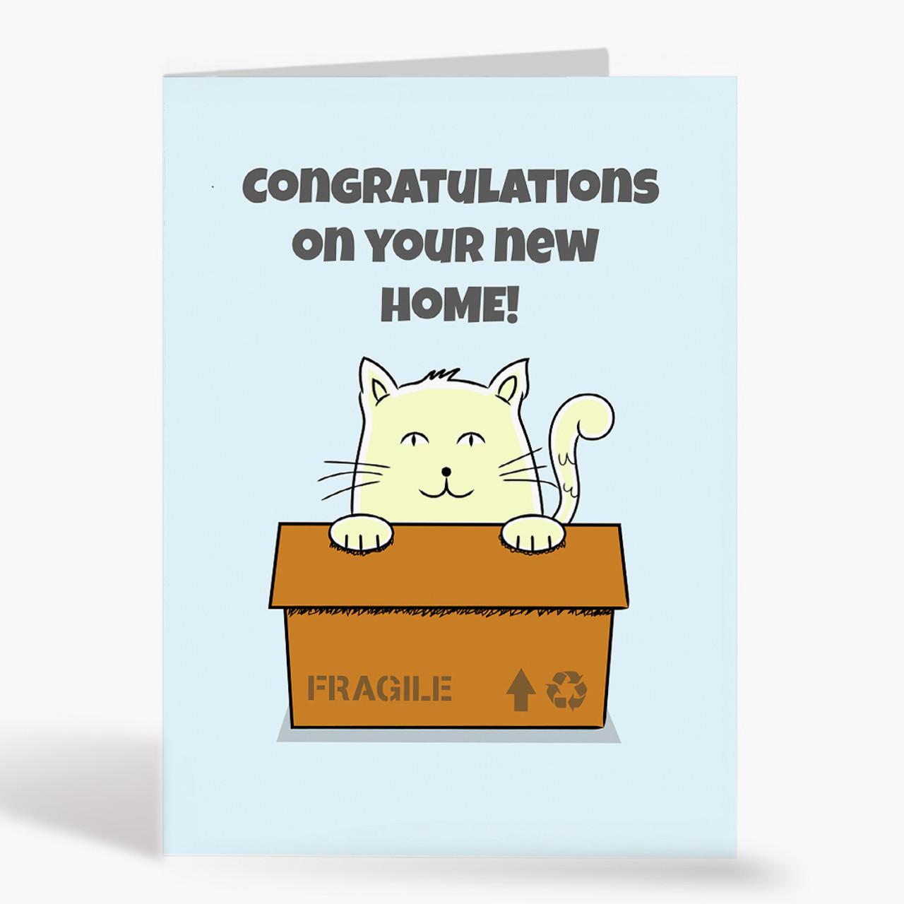 Cat Box Congratulations Card