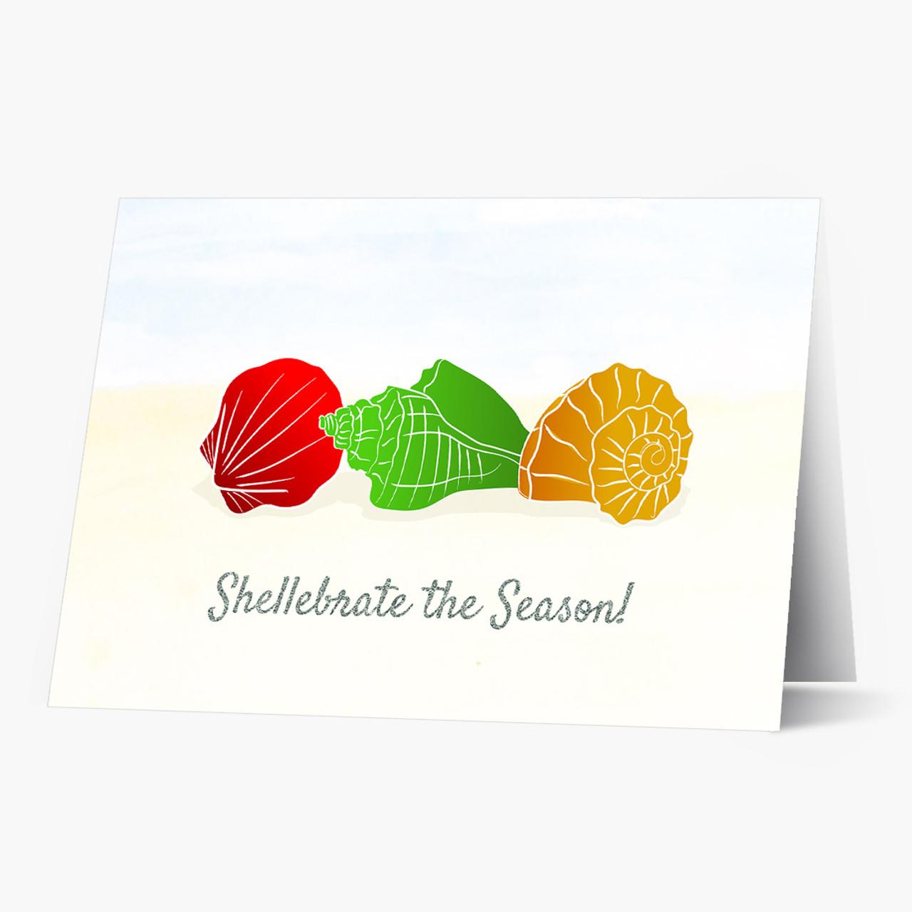 Christmas Shells Christmas Card