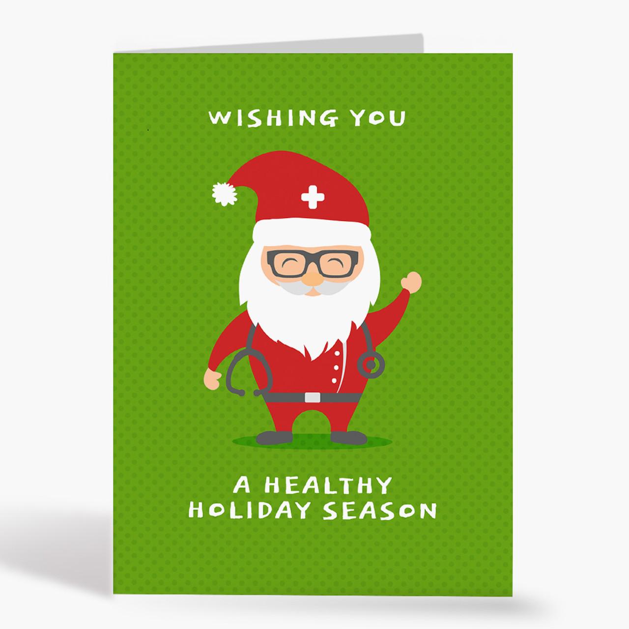 Doctor Santa Christmas Card