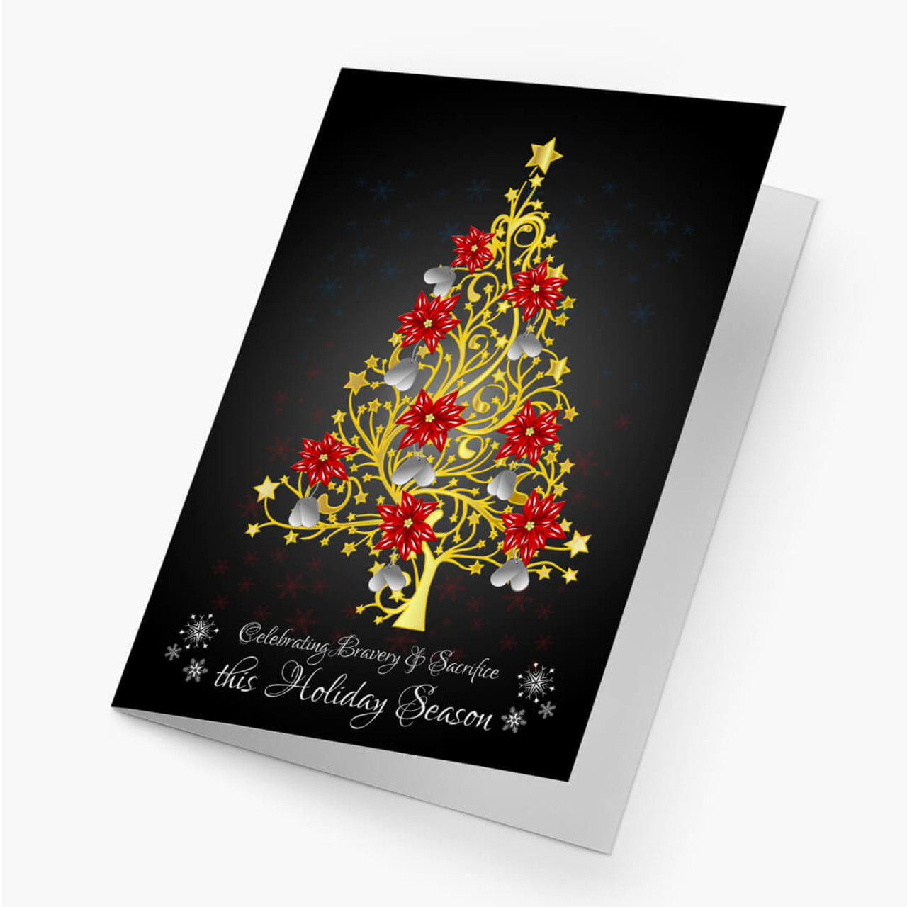 Filigree Dog Tag Christmas Card