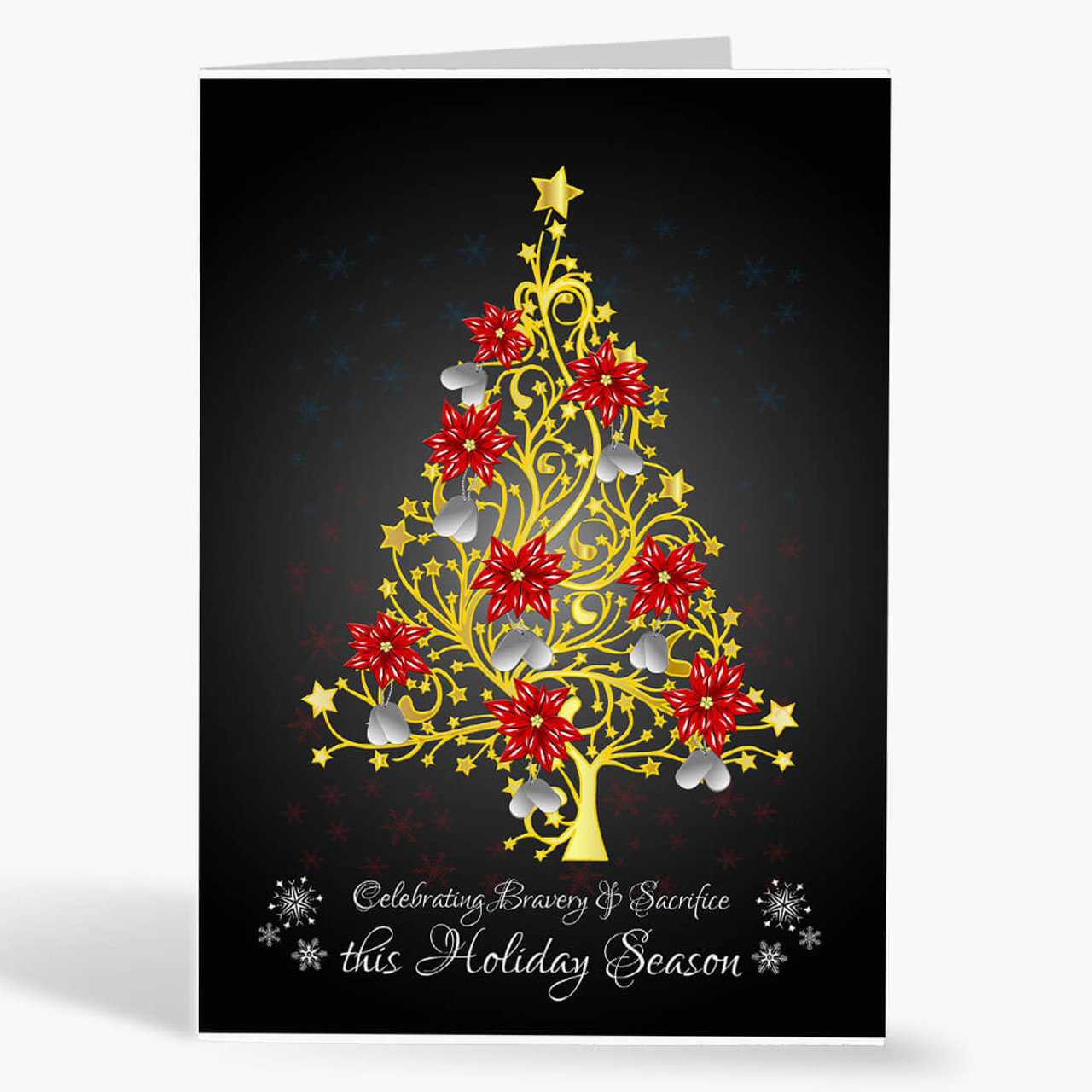Filigree Dog Tag Christmas Card