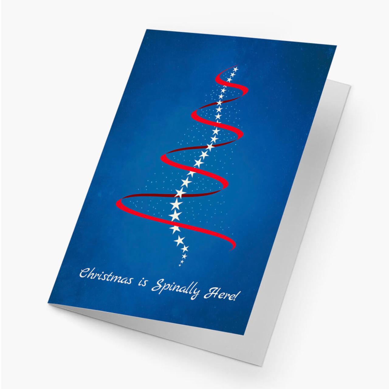 Holiday Spine Christmas Card