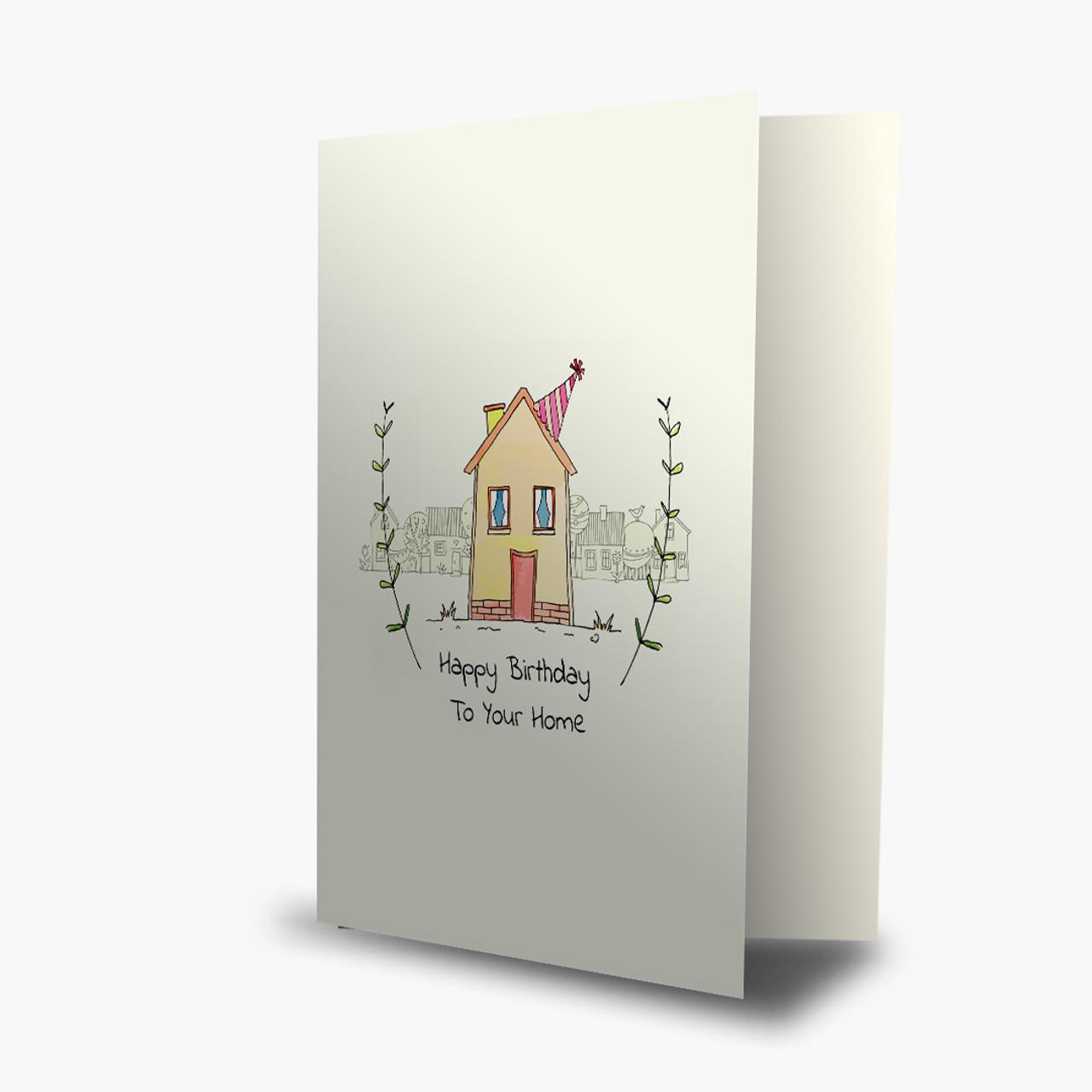 House Birthday Card