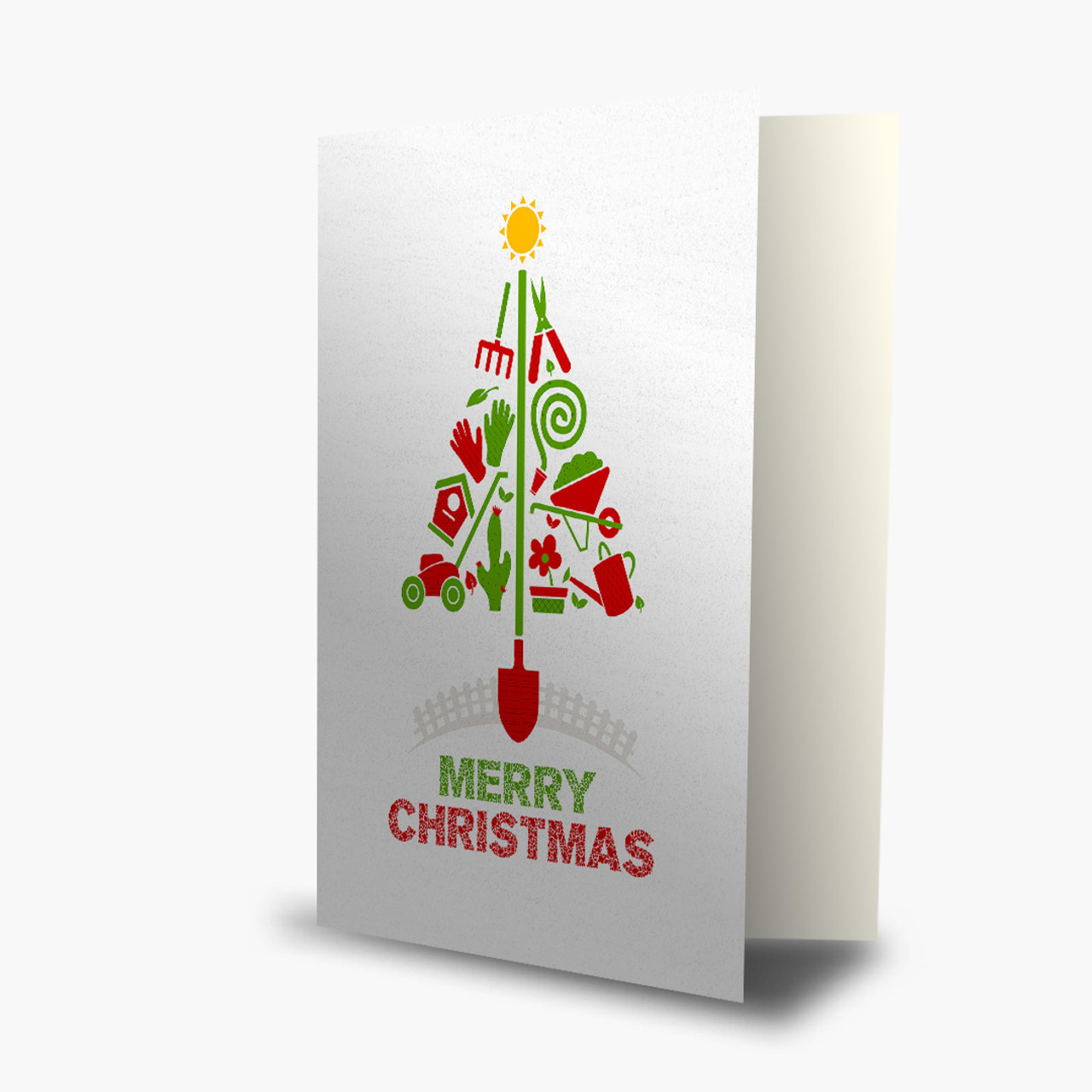 Landscaping Tree Christmas Card