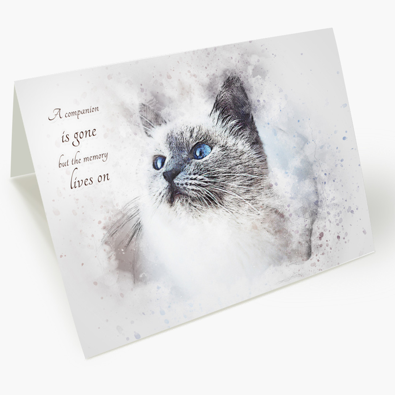 Memory Lives On Cat Pet Sympathy Card