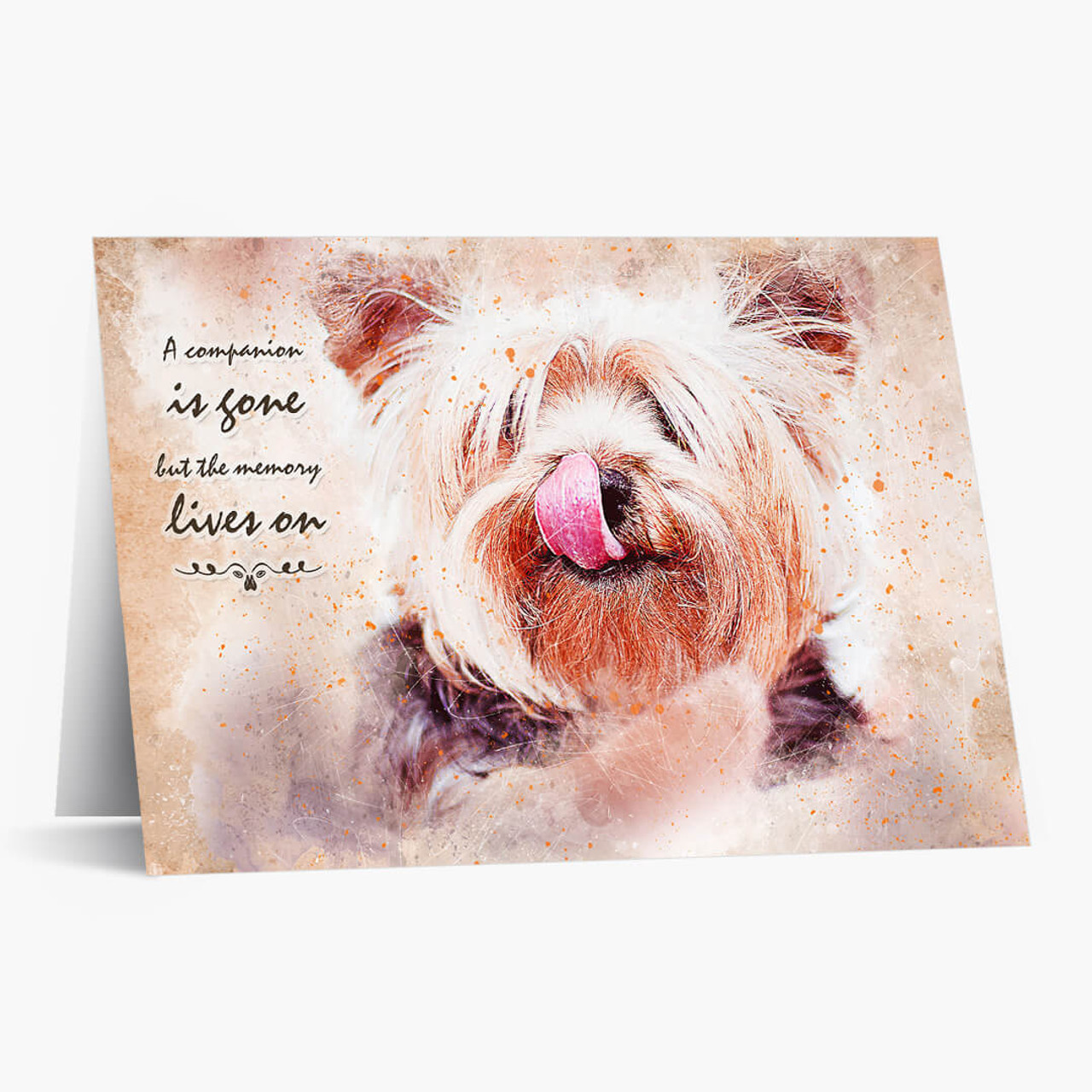 Memory Lives On Dog Pet Sympathy Card