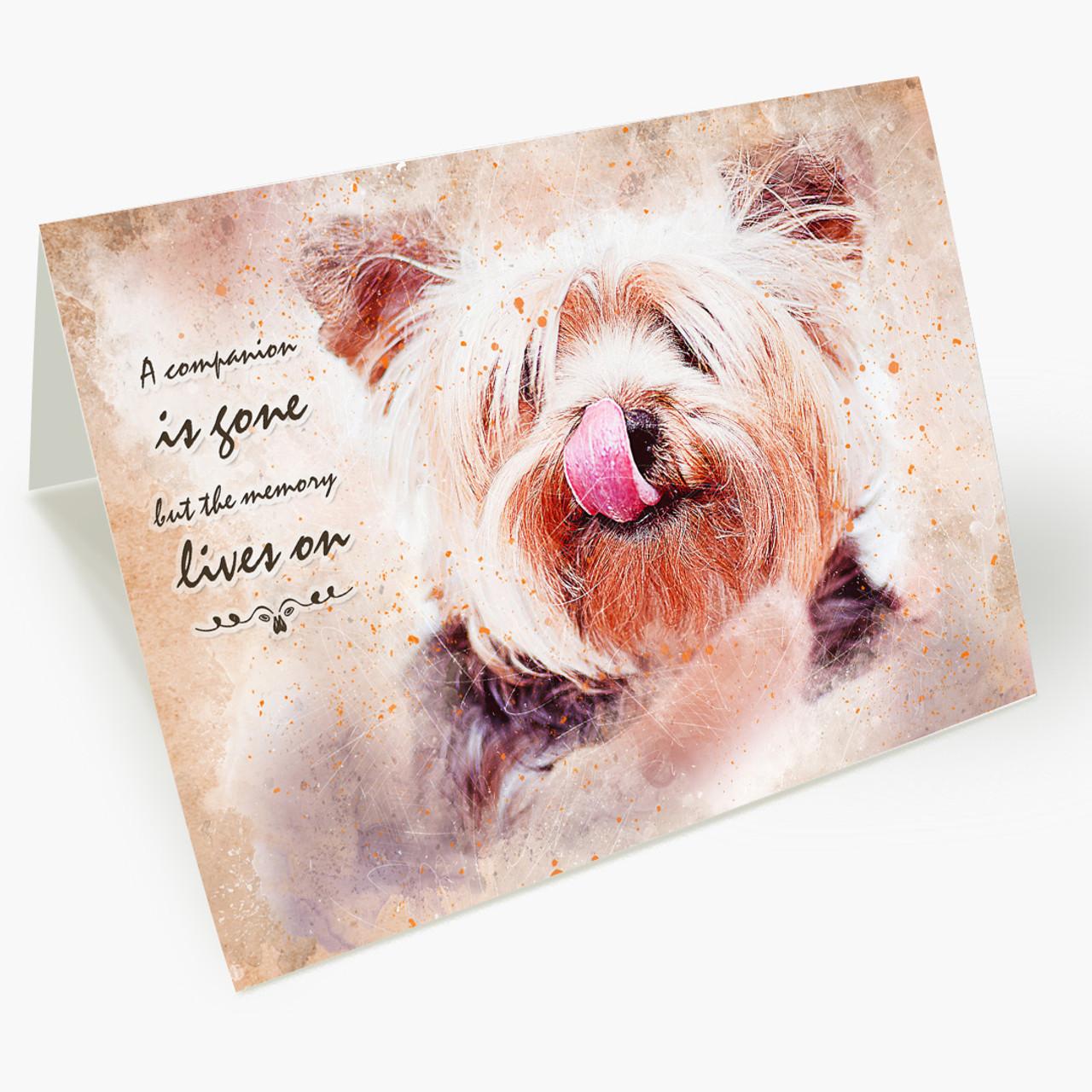 Memory Lives On Dog Pet Sympathy Card
