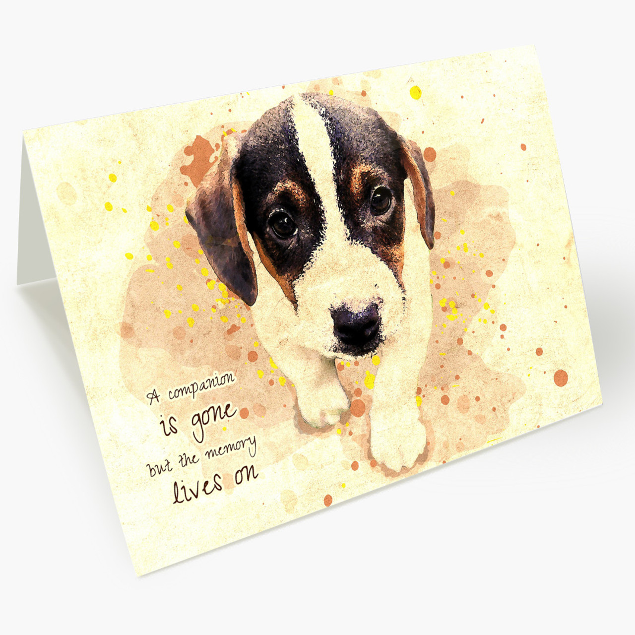Memory Lives On Pet Sympathy Card