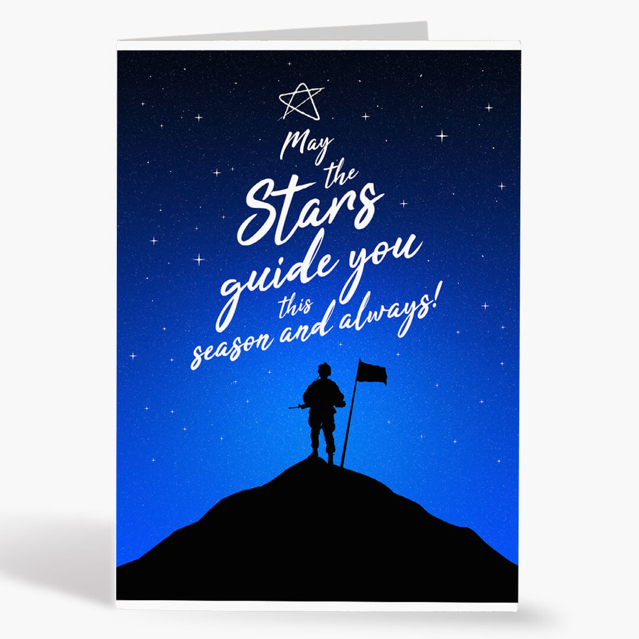 Soldier Starry Night Christmas Card