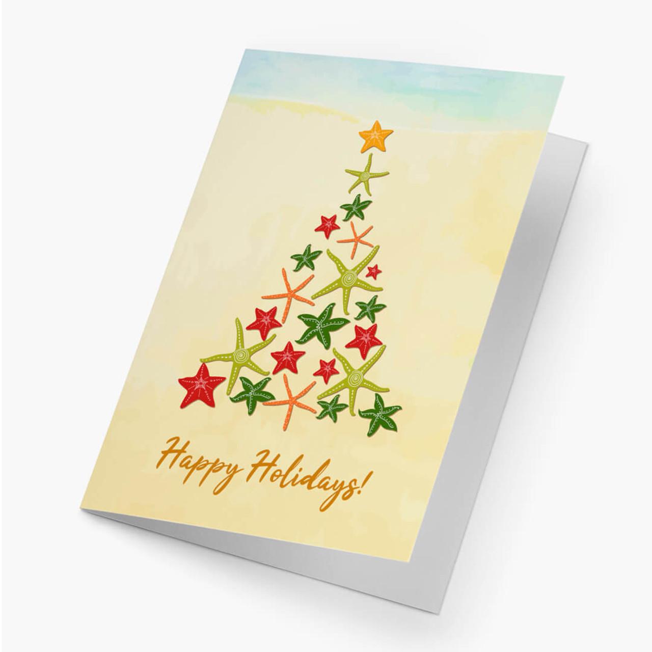 Starfish Christmas Tree Card