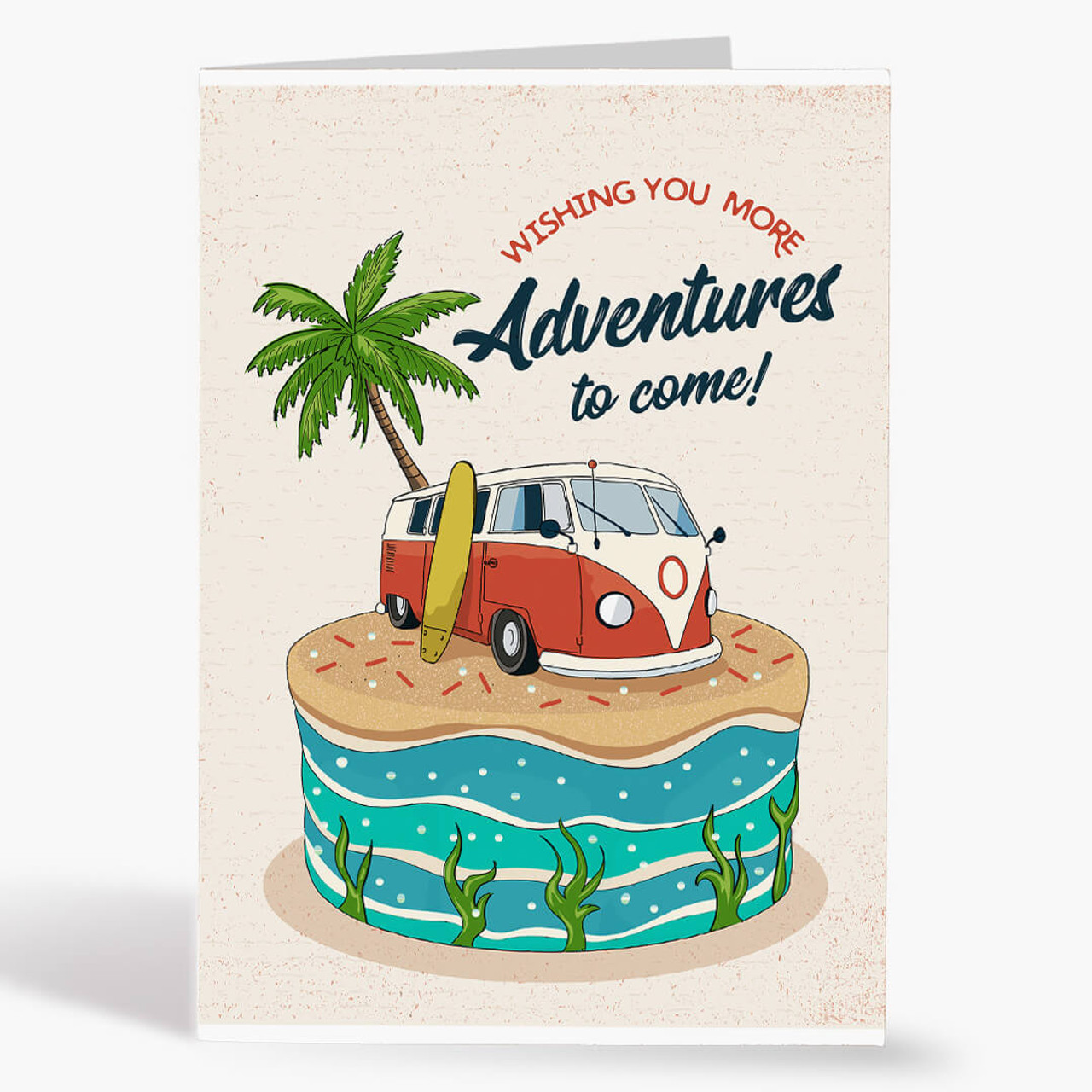 Surf Van Cake Birthday Card