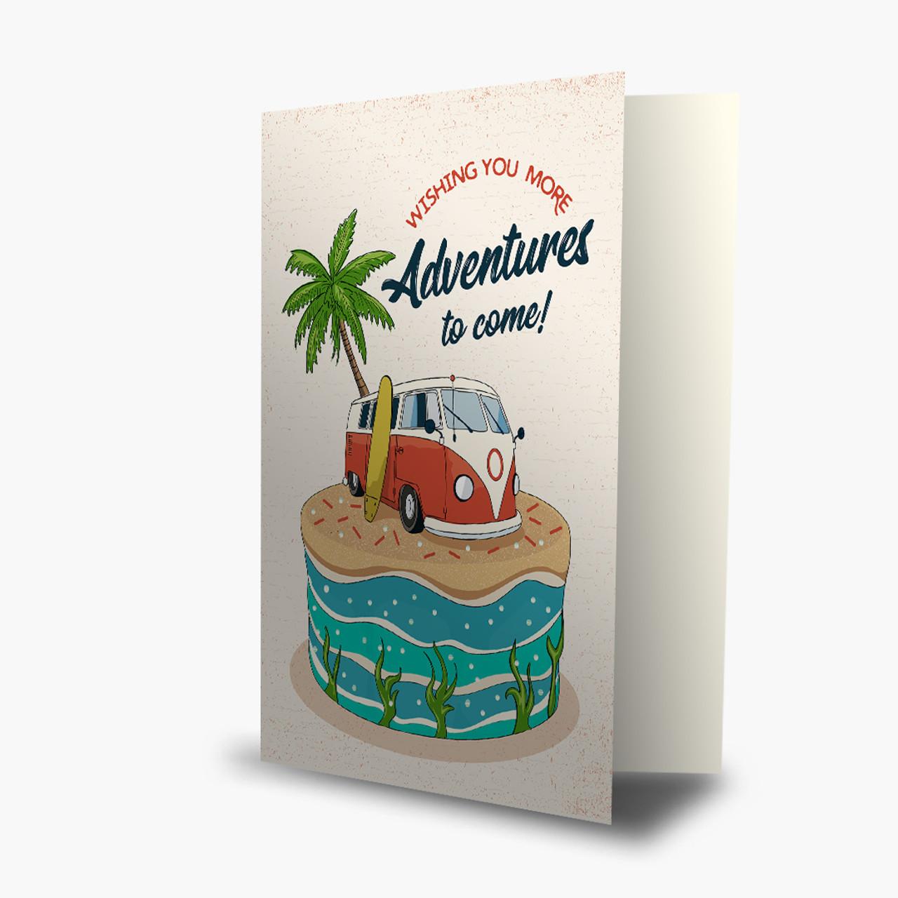 Surf Van Cake Birthday Card