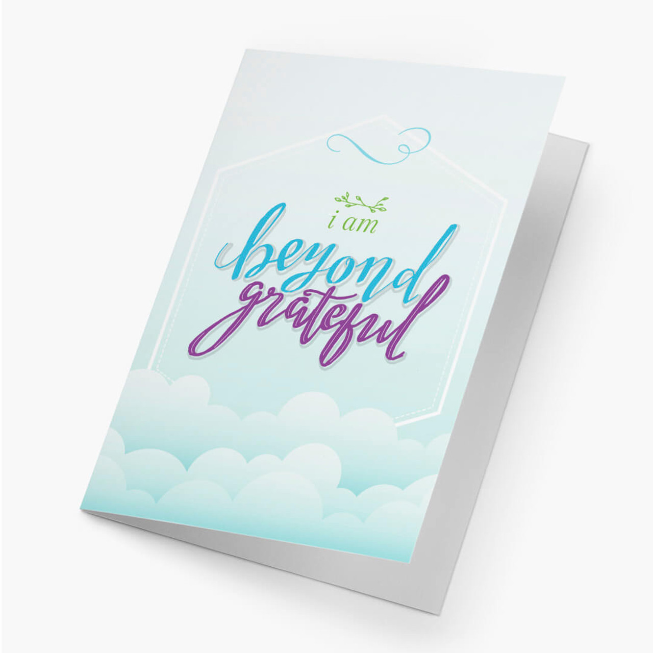Thank You - Clouds Card