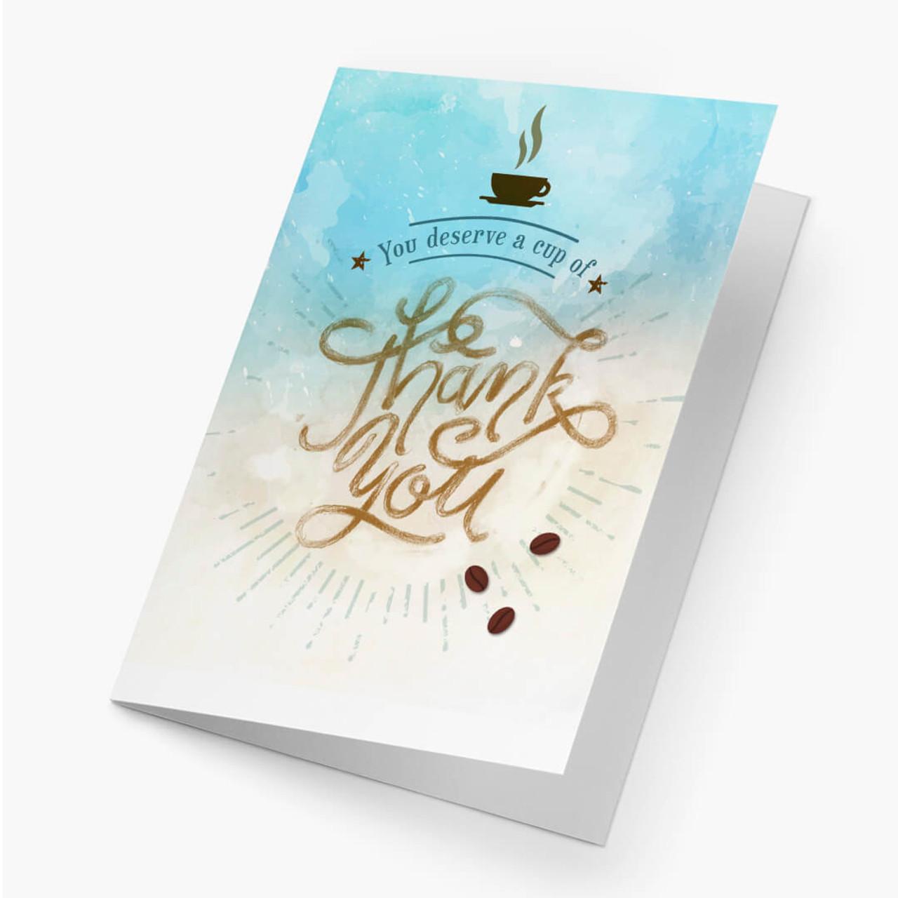 Thank You - Coffee Card
