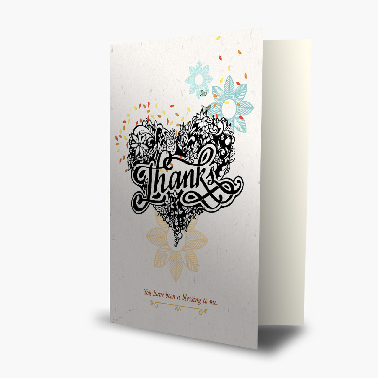 Thank You - Tattooed Heart Card