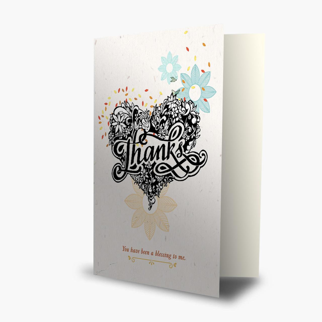 Thank You - Tattooed Heart Card