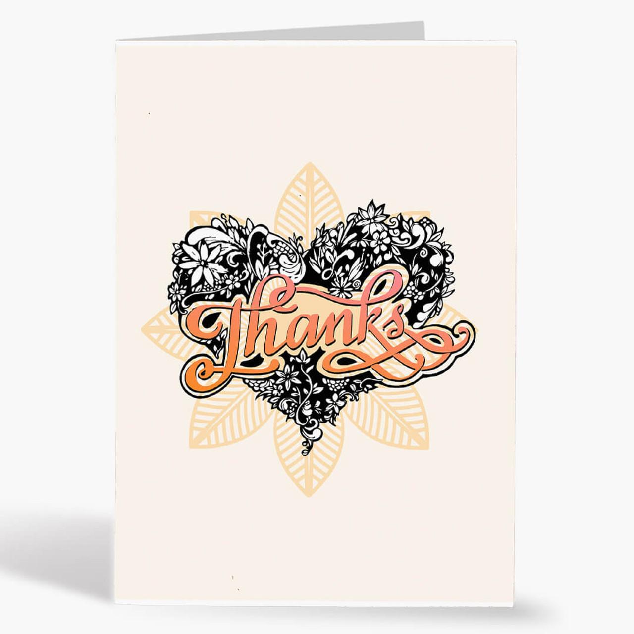 Thank You - Tattooed Heart 2 Card