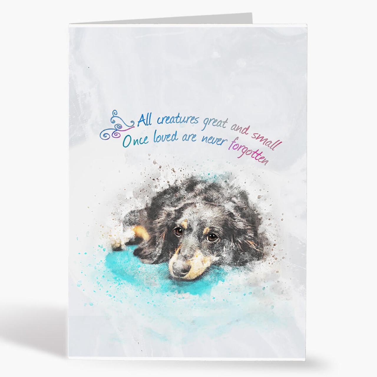 Watercolor Dog Sympathy