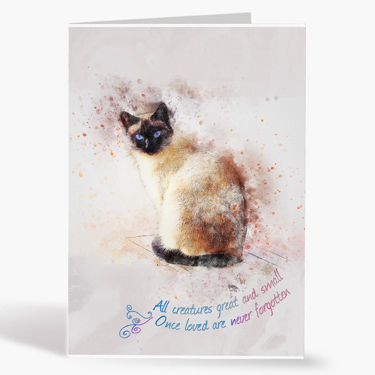 Watercolor Siamese Sympathy
