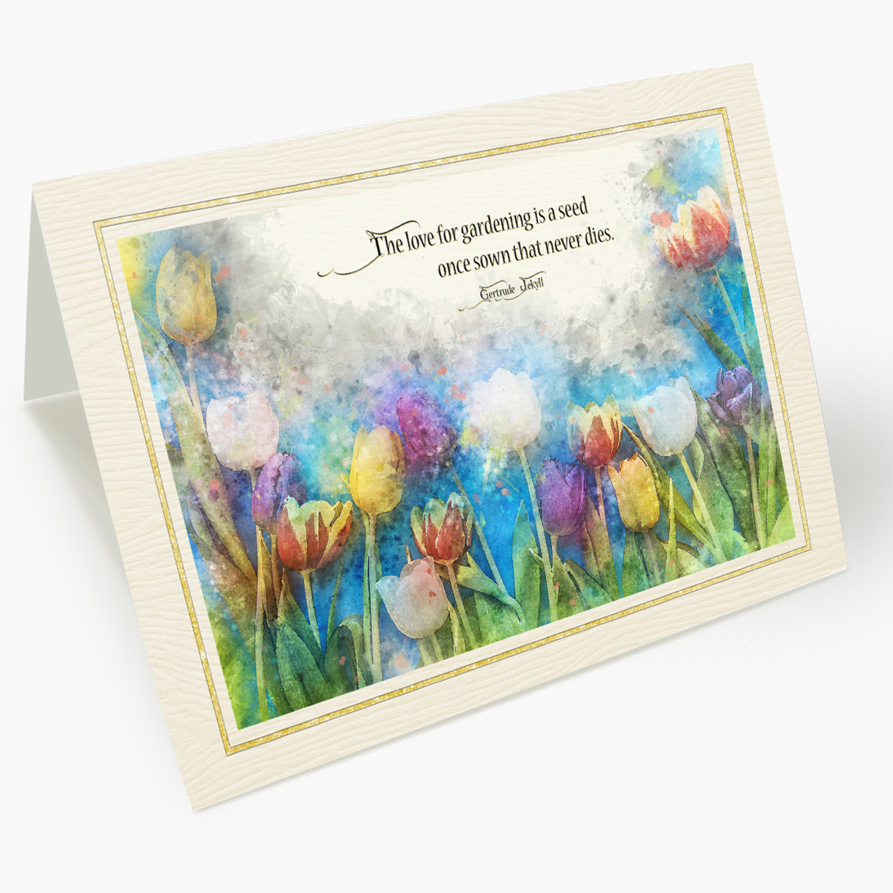 Watercolor Tulip All Occasion Gardening Appreciation Card