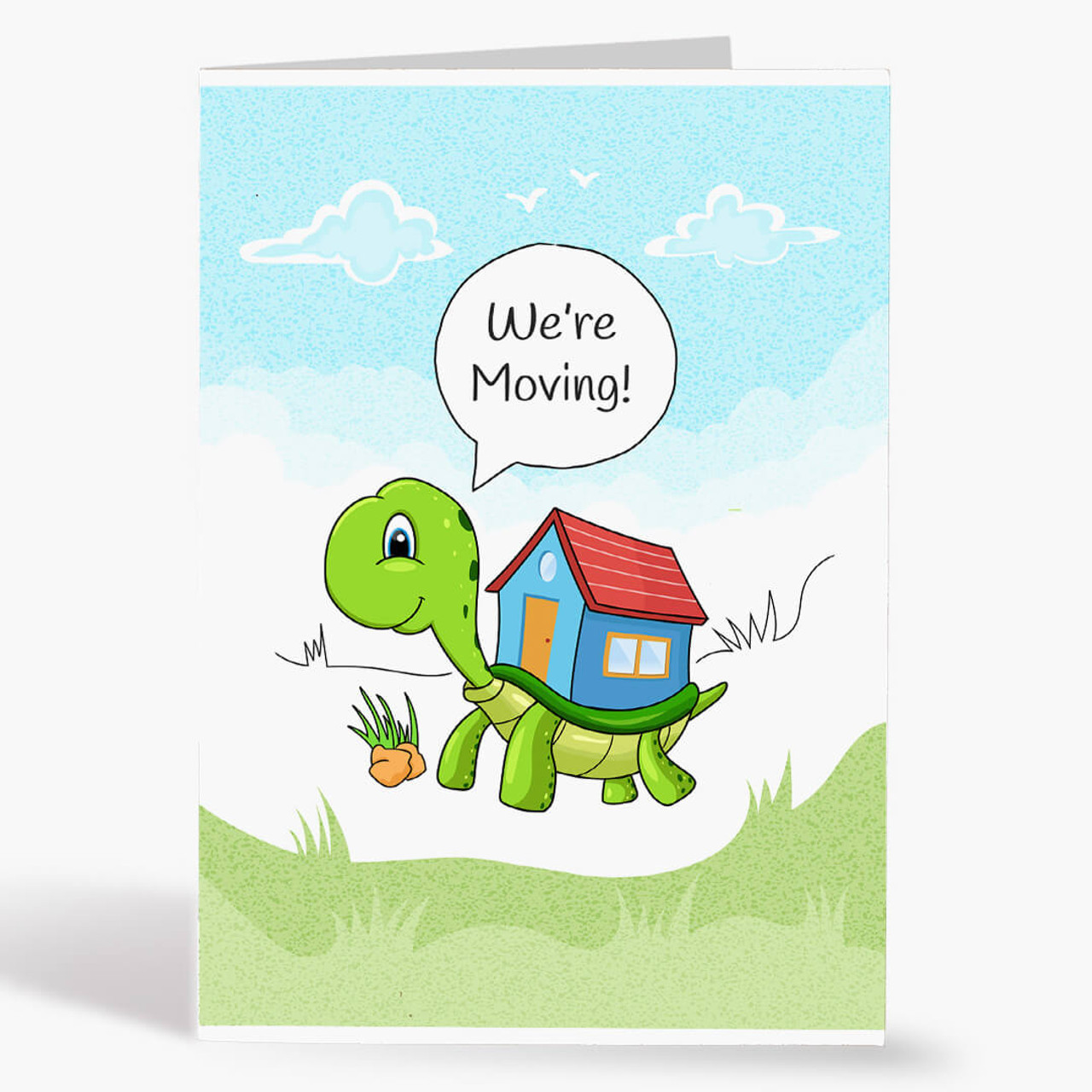 We're Moving Turtle Real Estate Card