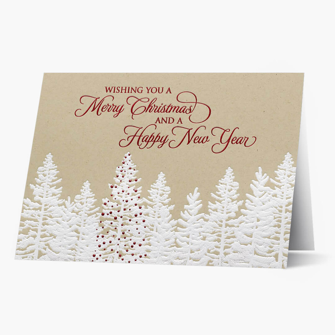 Rustic Christmas Forest Christmas Card