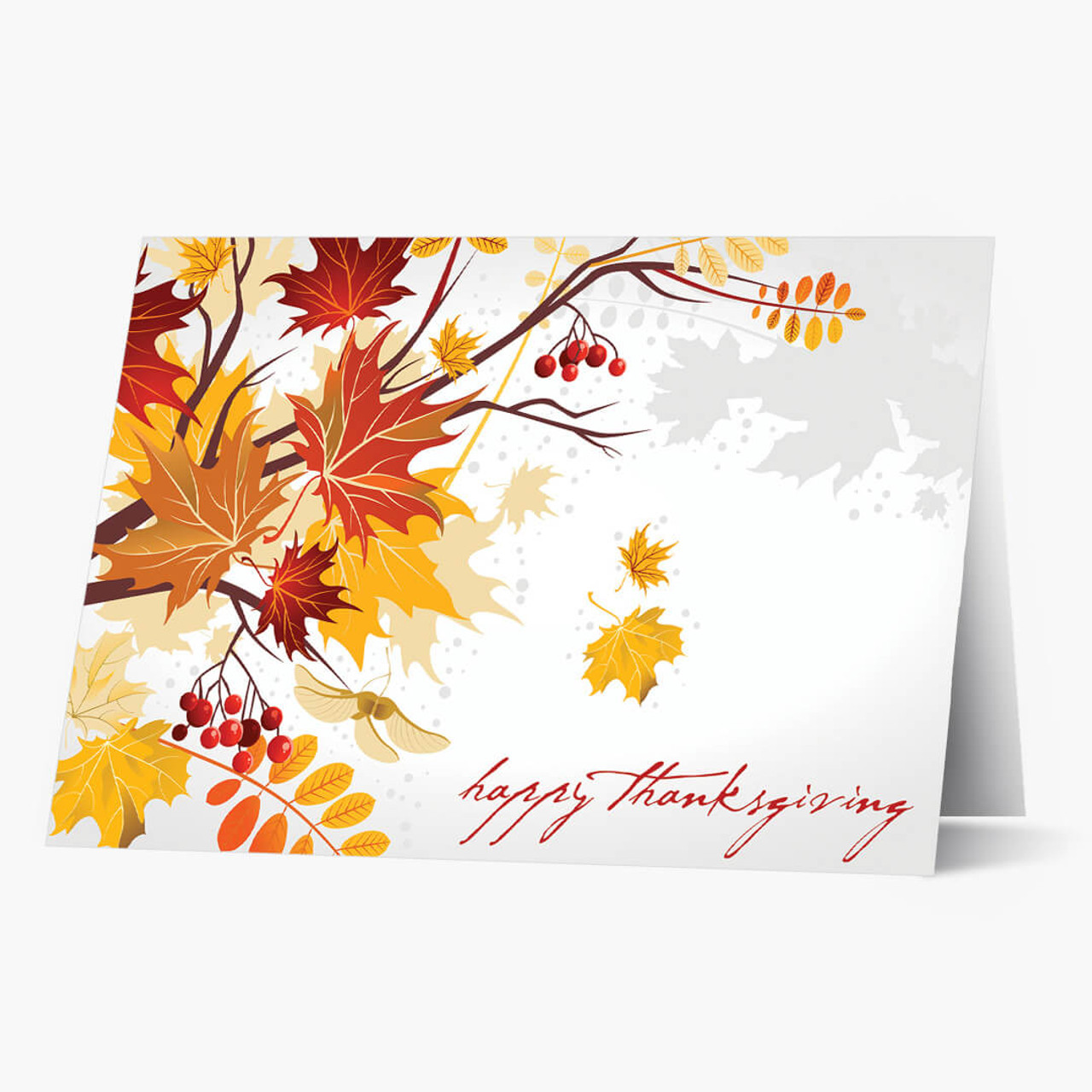 Season's Glow Thanksgiving Card