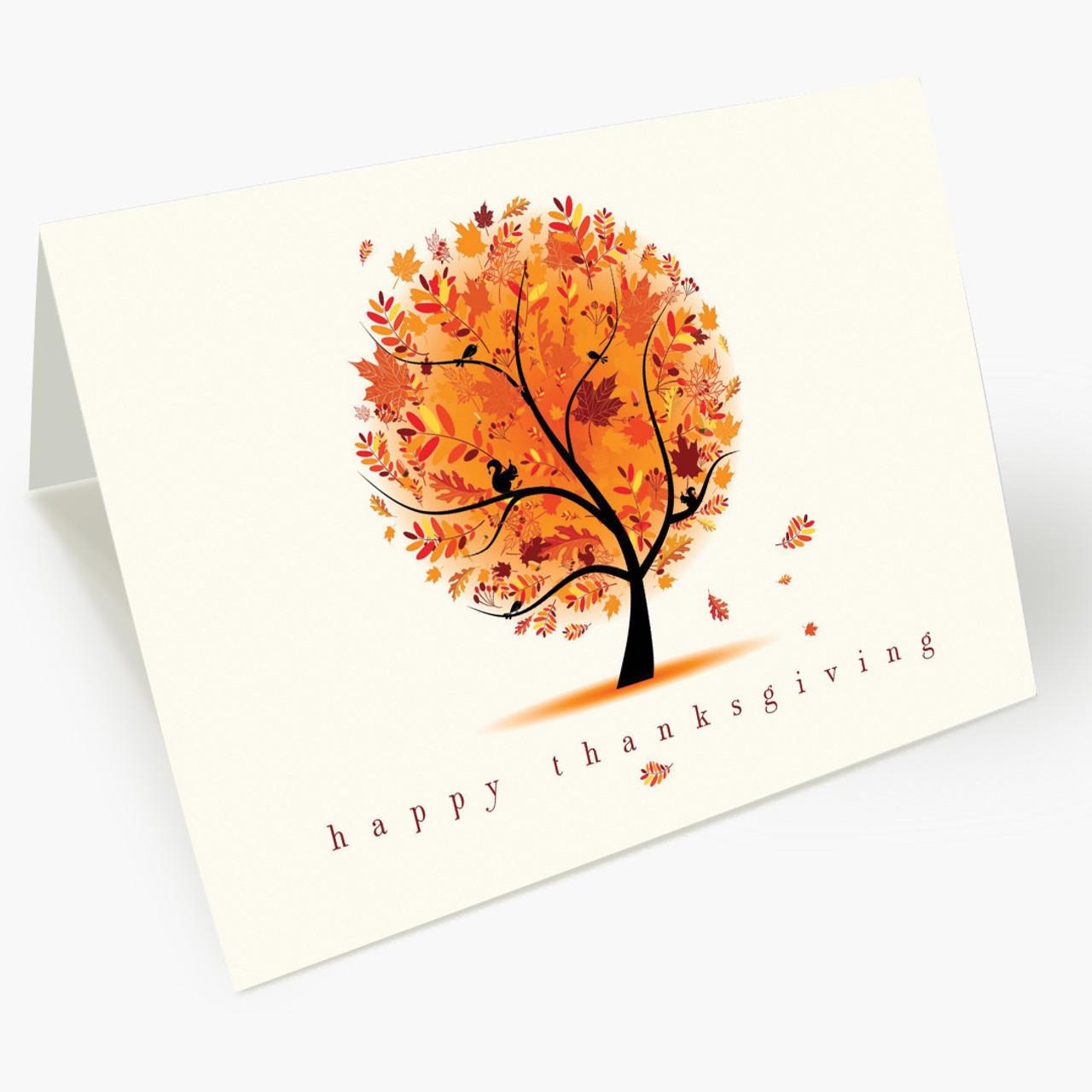 Autumn's Brilliance Thanksgiving Card