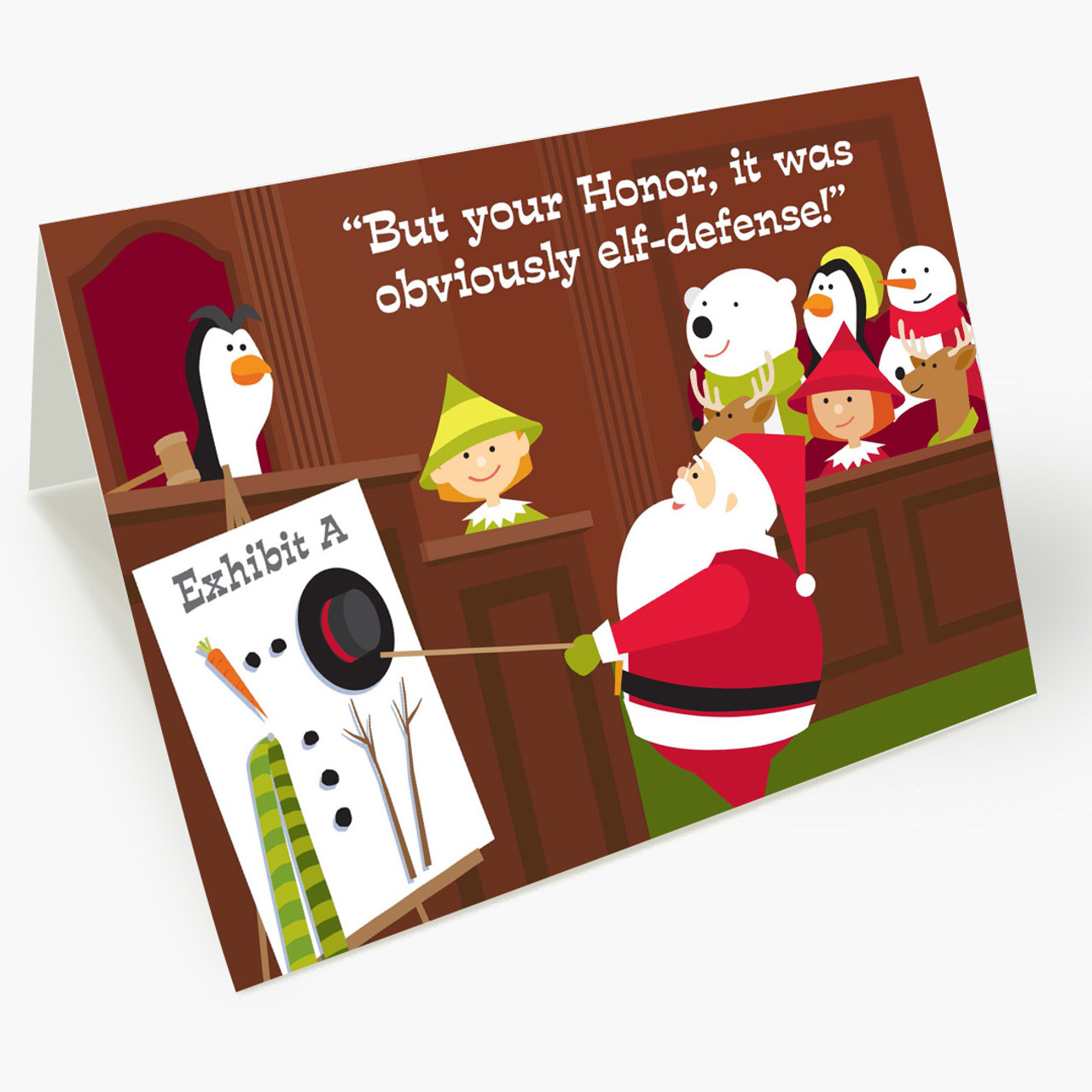 Elf Defense Christmas Card