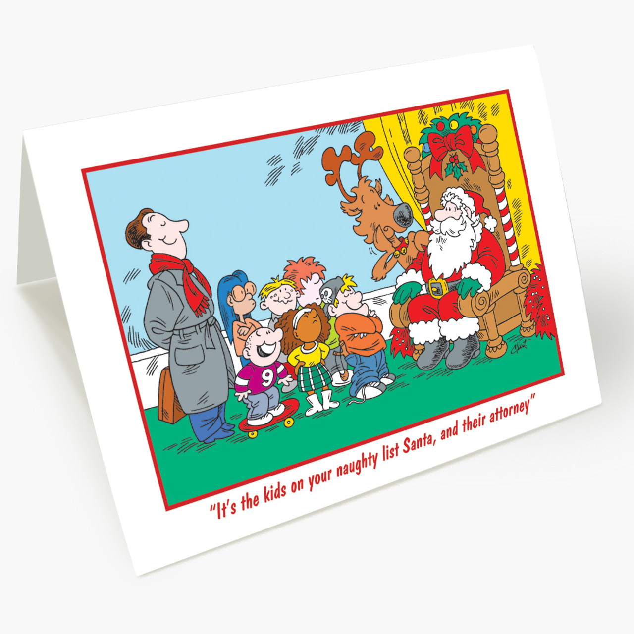 Naughty Kids Legal Christmas Card
