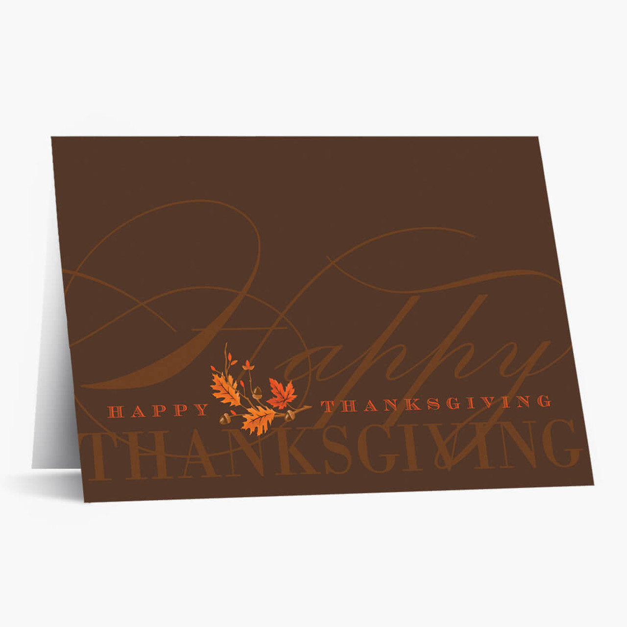 Brilliant Greeting Thanksgiving Card