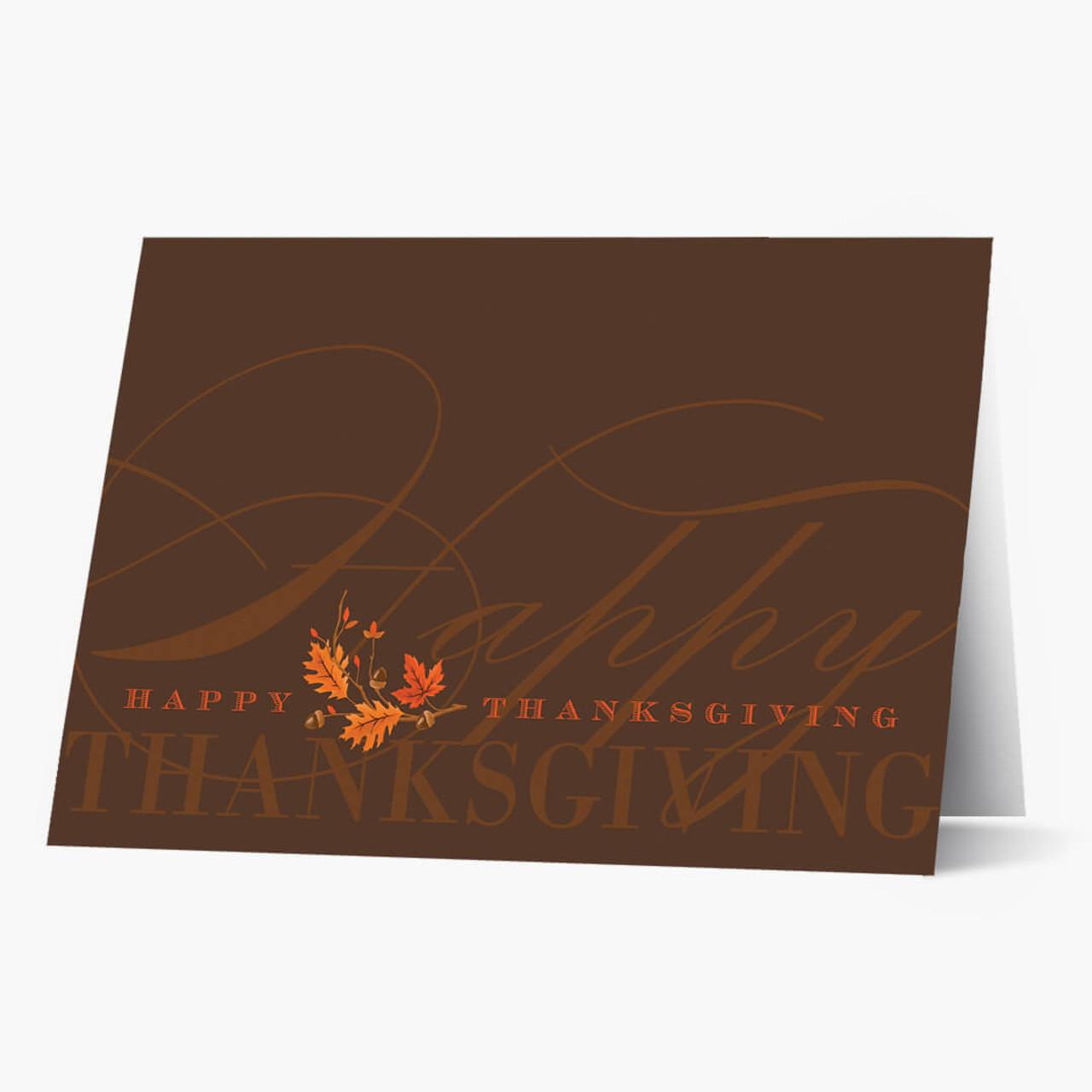 Brilliant Greeting Thanksgiving Card