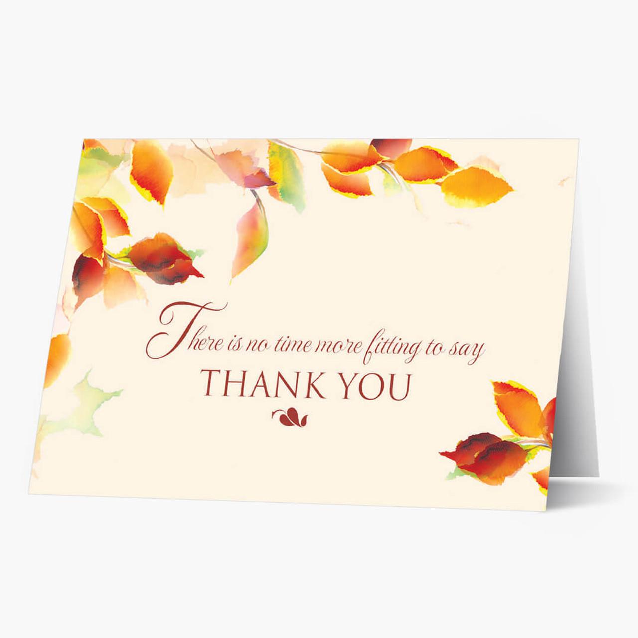 Watercolor Appreciation Thanksgiving Card