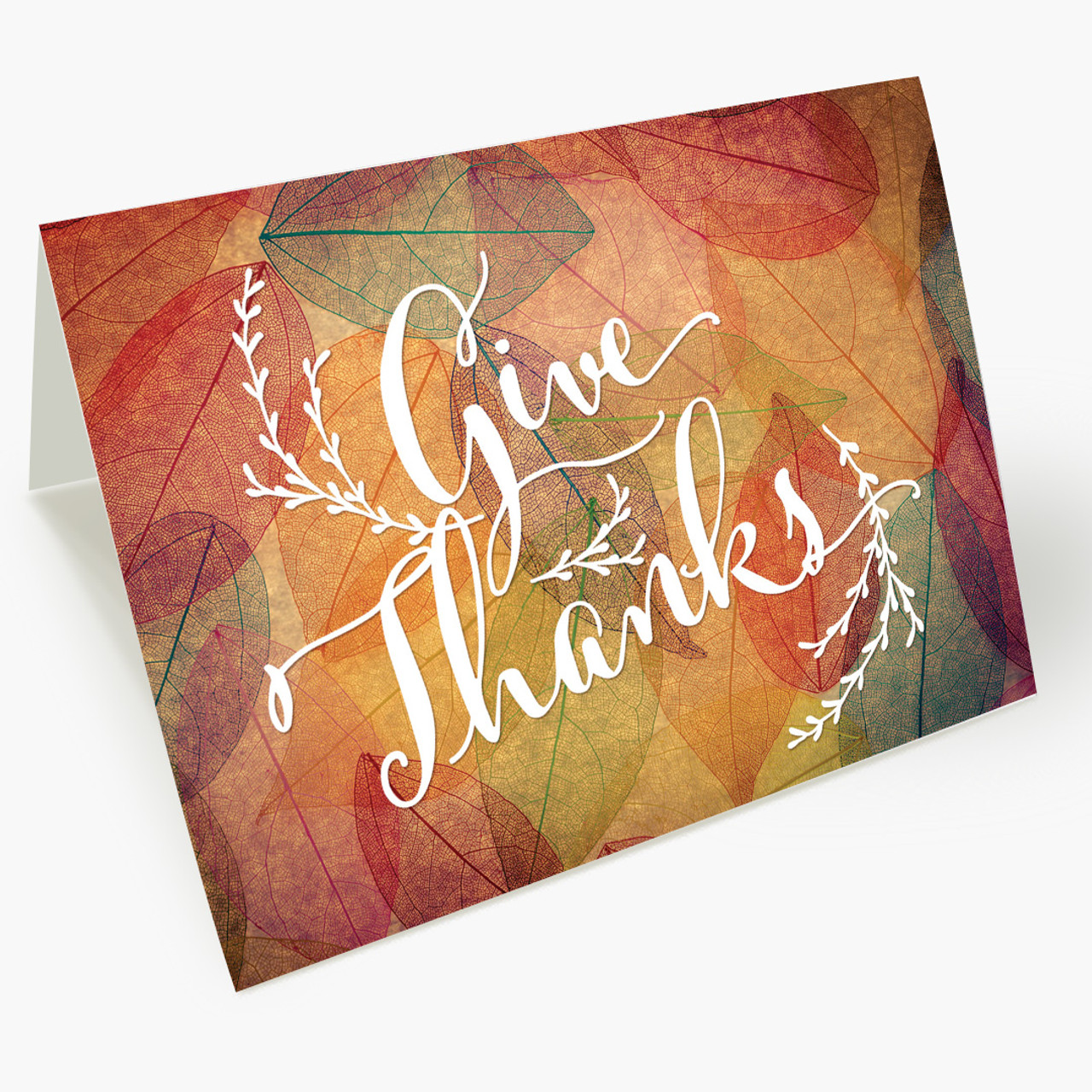 Colorful Array of Thanks Thanksgiving Card