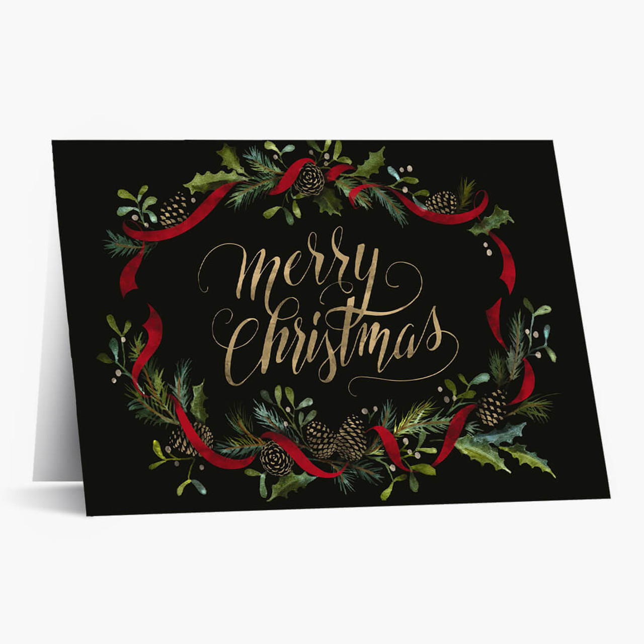 Merry Christmas Pine Cones Card