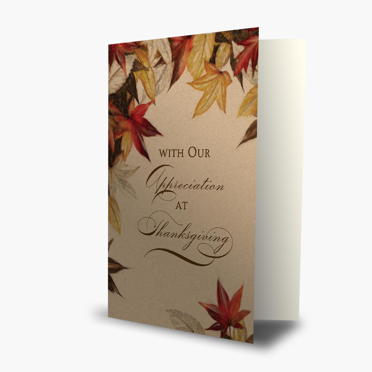 Autumn Maple Leaves Thanksgiving Card