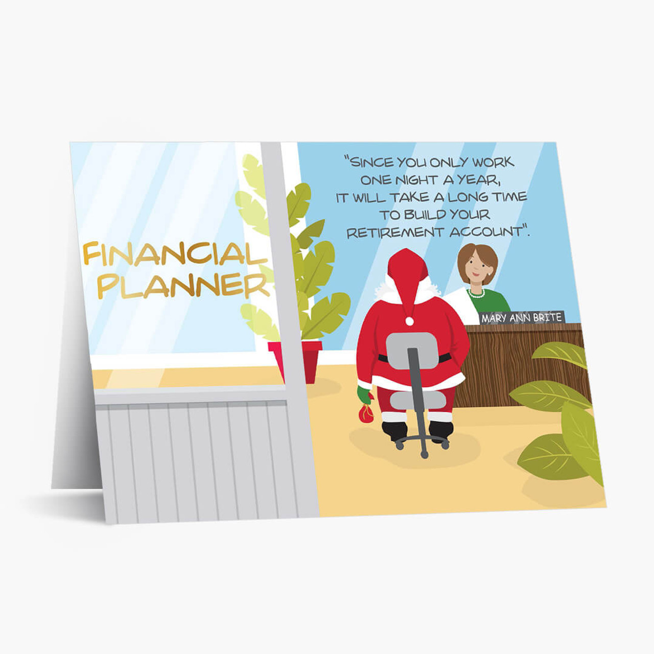 Retirement Planning Christmas Card