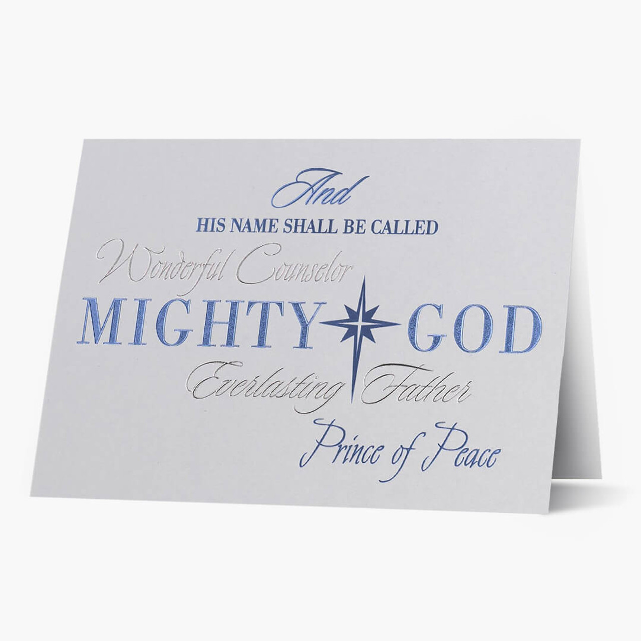 Religious Typography Christmas Card