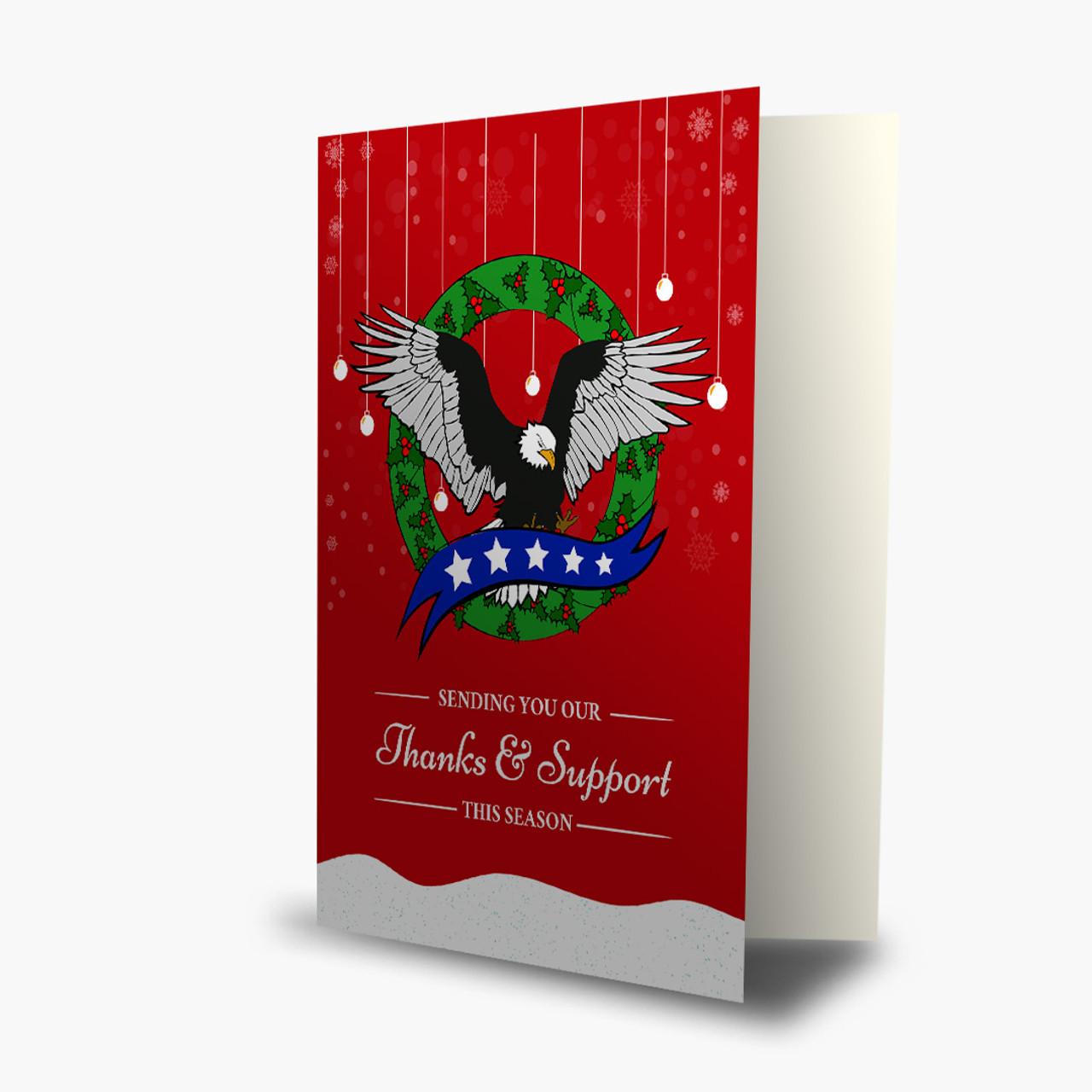Christmas Eagle Card