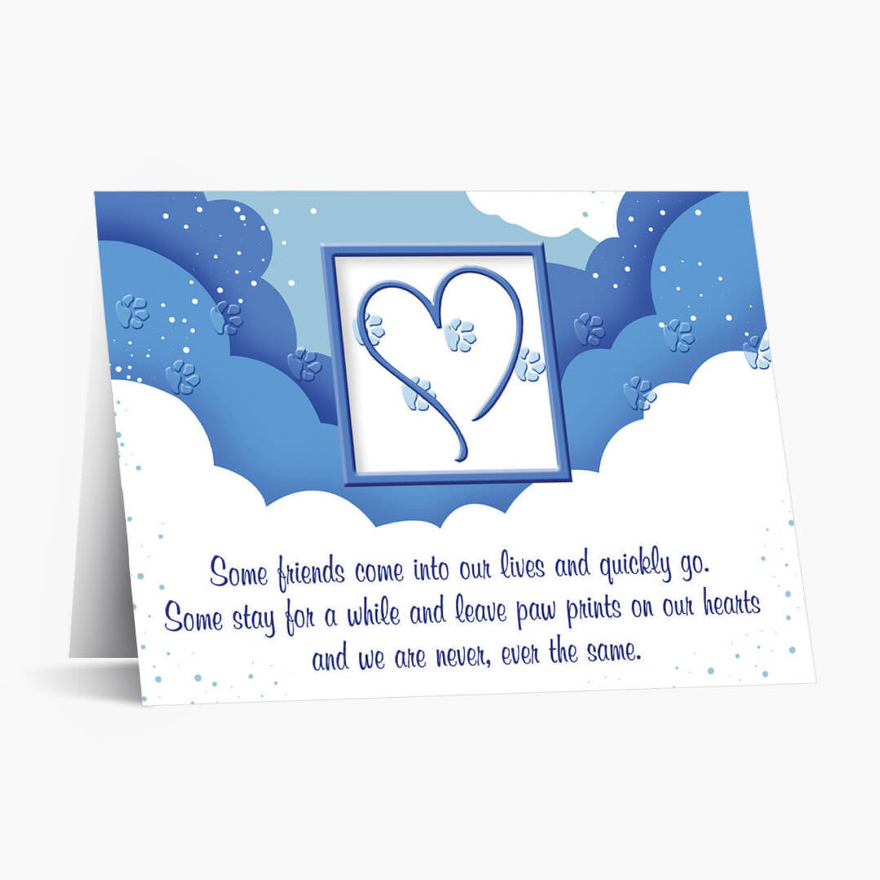Paw Prints Pet Sympathy Card