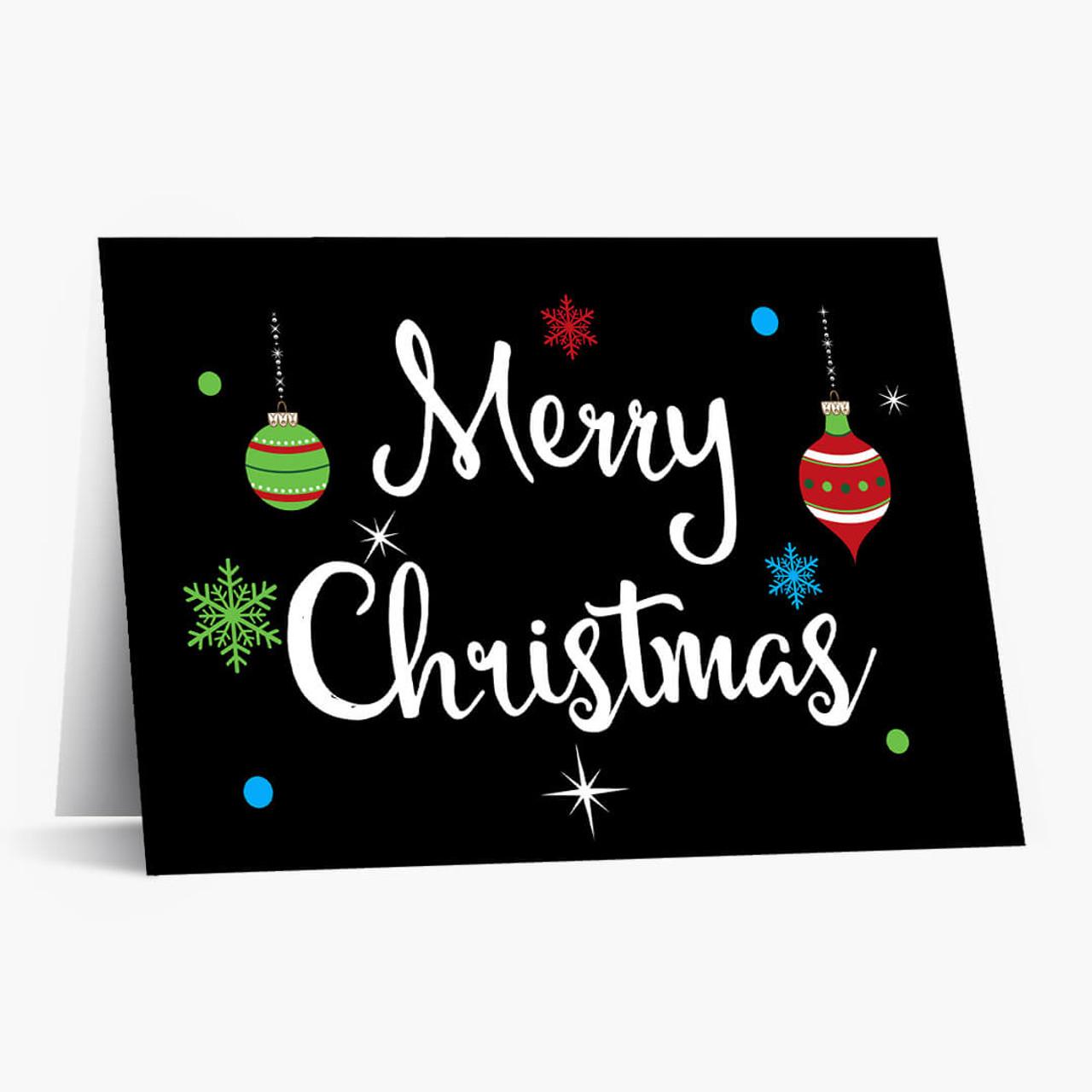 Bright Christmas Ornament Card