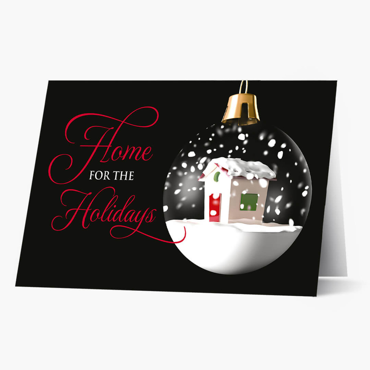 Real Estate Snowy Ornament Christmas Card